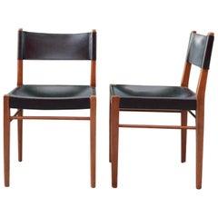 Helmut Magg Midcentury Model 3024 Leather Dining Chair Deutsche Werkstätten 1957