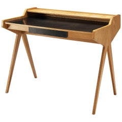 Helmut Magg Small Desk with Cherry Veneer
