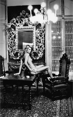 """Charlotte Rampling at Hotel Nord, Paris, 1974 - 20""""x24"""", signed by Helmut Newton"""
