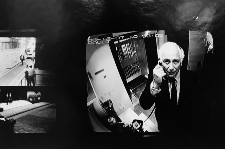 Helmut Newton Black and White Photograph - Checkpoint, Evelyn Rothschild, London