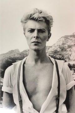 """""""David Bowie, Monte Carlo 1893"""" Vintage Silver Gelatin by Helmut Newton"""