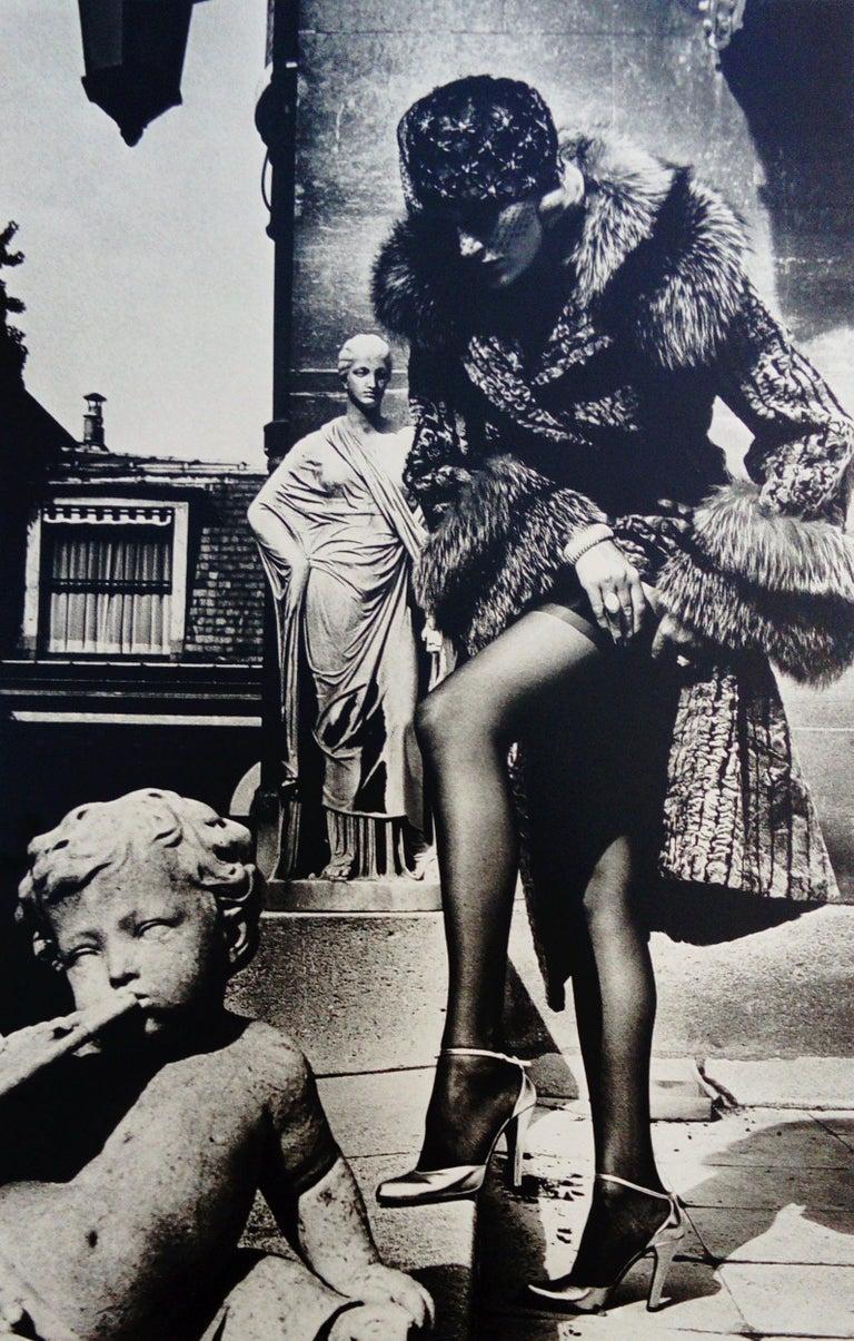 Helmut Newton Black and White Photograph - Fashion photograph