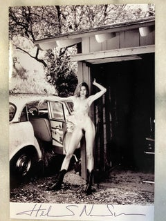 Helmut newton Naked in the car 1982