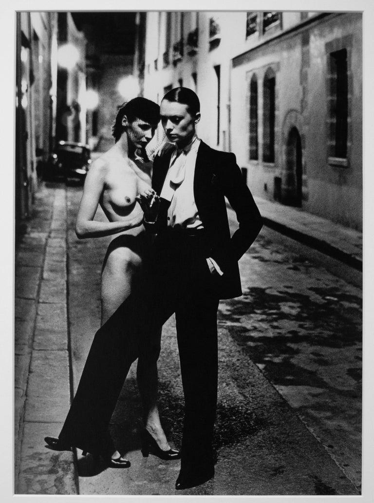 Helmut Newton, 'Rue Aubriot' 1975, Original Silver Gelatin Print - Contemporary Photograph by Helmut Newton