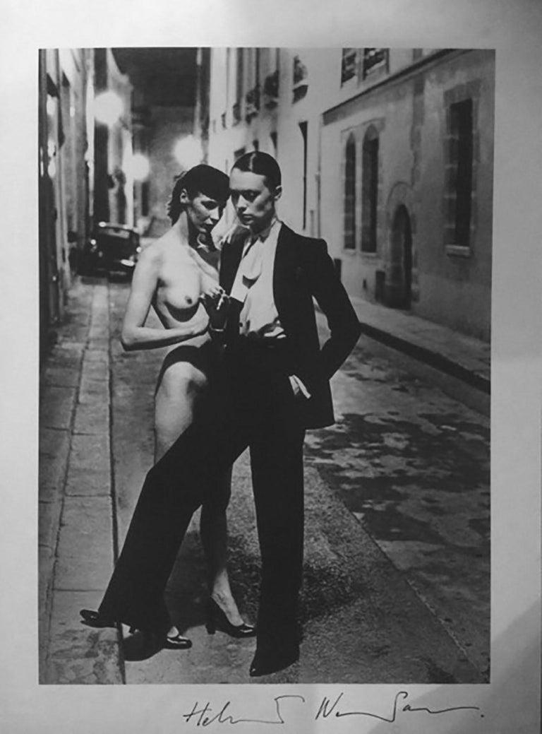 Helmut Newton, 'Rue Aubriot', 1975 (Signed)  - Contemporary Photograph by Helmut Newton