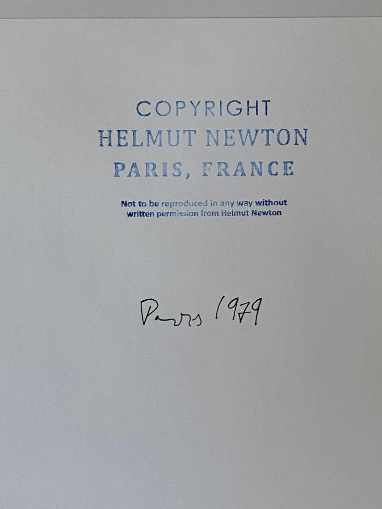 Helmut Newton, 'Rue Aubriot', 1975 (Signed)  For Sale 4
