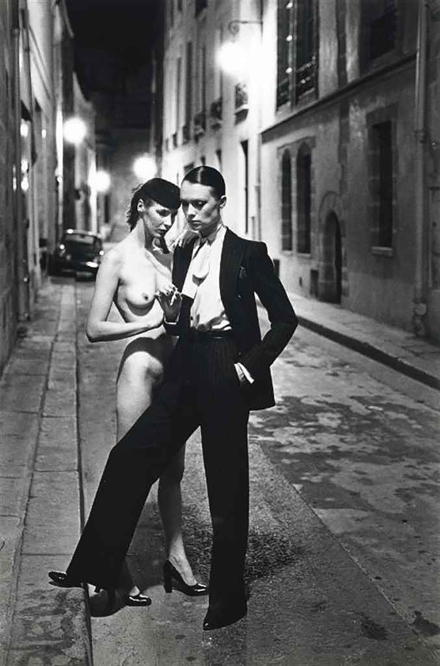 Helmut Newton, 'Rue Aubriot', 1975 (Signed)