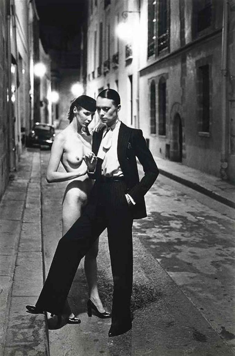 Helmut Newton, 'Rue Aubriot', 1975 (Signed)  - Photograph by Helmut Newton