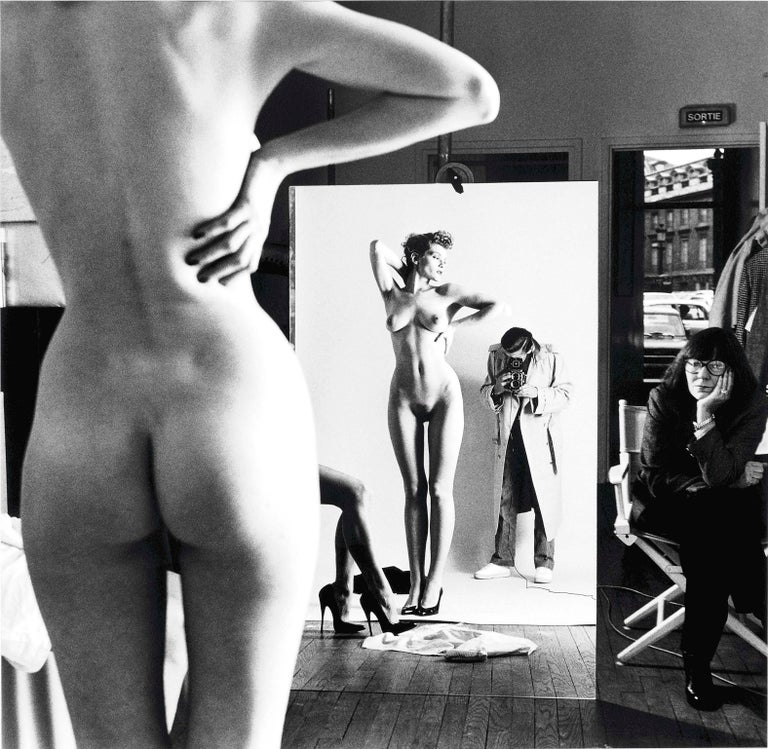 Helmut Newton, 'Self Portrait with Wife and Model' 1981 - Photograph by Helmut Newton