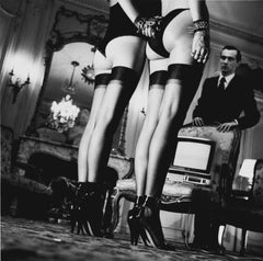Helmut Newton, 'Two Pairs of Legs in Black Stockings', Signed Silver Gelatin Pr.
