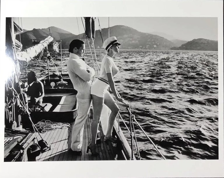Helmut Newton, 'Winne on Deck', Cannes, 1975, Silver Gelatin Print - Contemporary Photograph by Helmut Newton