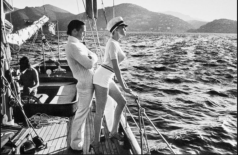 Helmut Newton, 'Winne on Deck', Cannes, 1975, Silver Gelatin Print - Photograph by Helmut Newton