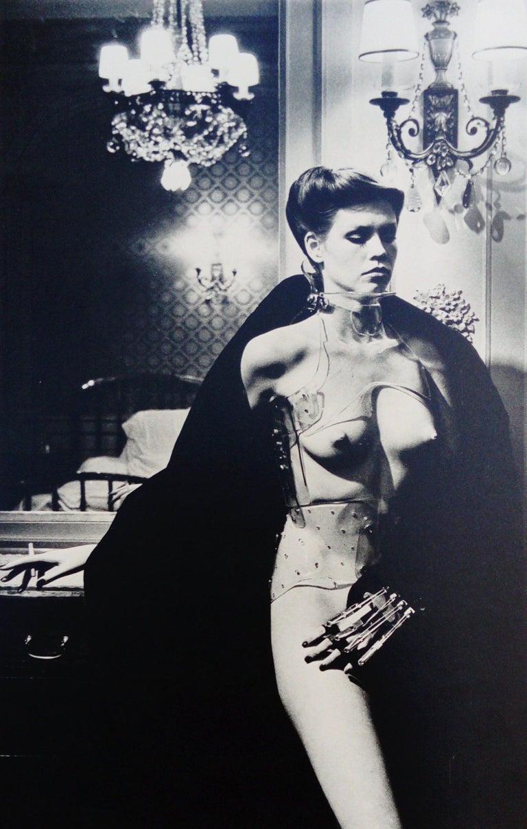 Helmut Newton Black and White Photograph - Jane Kirby - Avenue Kléber