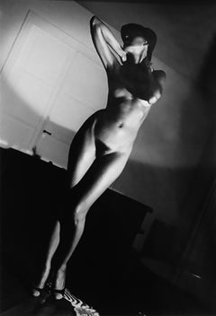 Jenny in My Apartment, Paris, Unique Vintage Black and White Nude Photography