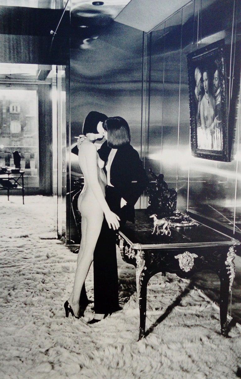 Helmut Newton Black and White Photograph - Mannequins, Quai d'Orsay I