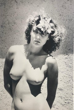 """Model in Hat"" Original Vintage Silver Gelatin Print by Helmut Newton"
