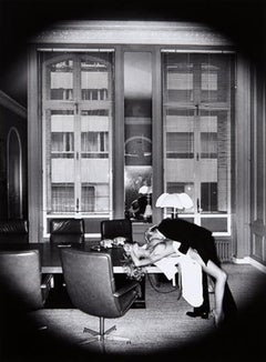 Office Love, 1976 - 20 x 24 Signed & Dated by Helmut Newton