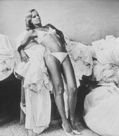 "Original silver gelatin print ""Model White Swimsuit"" by Helmut Newton"