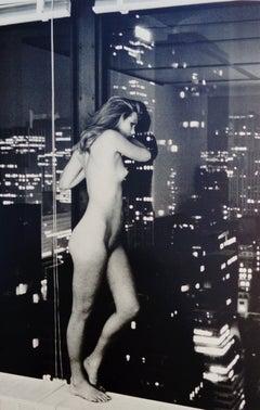 Patti Hansen over Manhattan