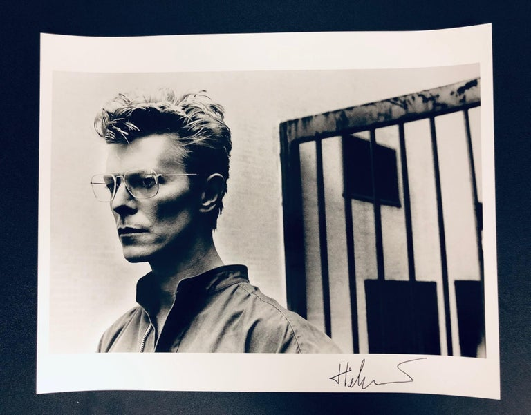 Portrait of David Bowie, Monte-Carlo, 1982. Signed by Helmut Newton For Sale 1