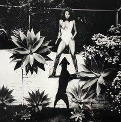"""""""Raquel Welch"""" Original 20x24 Vintage Silver Gelatin Print by Helmut Newton"""