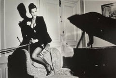 """Saddle II, Paris 1976"" Original Vintage Silver Gelatin By Helmut Newton"