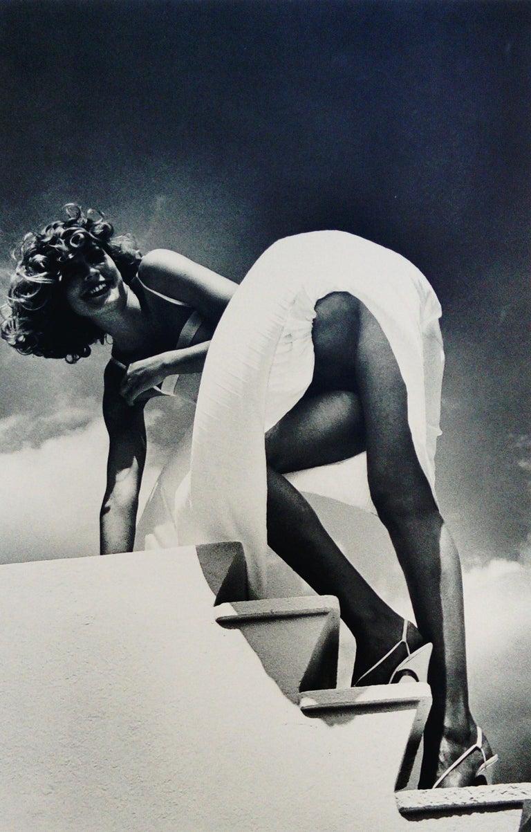 Helmut Newton Black and White Photograph - Saint Jean Cap Ferrat