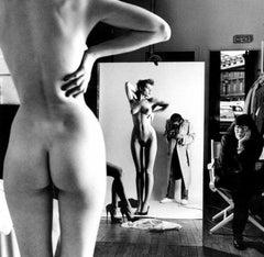 Self Portrait With Wife And Models, Vogue Studio, Paris, 1989