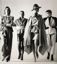 """""""Sie Kommen, Dressed, Paris 1981"""" Vintage Silver Gelatin by Helmut Newton"""