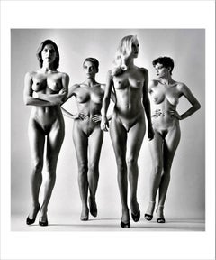 "Sie Kommen (Naked) c: 1981 - 40"" x 48"" Signed/Printed by Helmut Newton 1988"