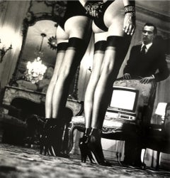 Two Pairs of Legs in Black Stockings, Paris, 1979