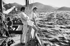 Winnie On Deck, Cannes 1975, Original Silver Gelatin Print by Helmut Newton