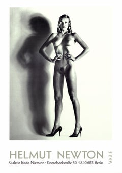 "Helmut Newton-Big Nude-33"" x 23.25""-Poster-Photography-Black & White"