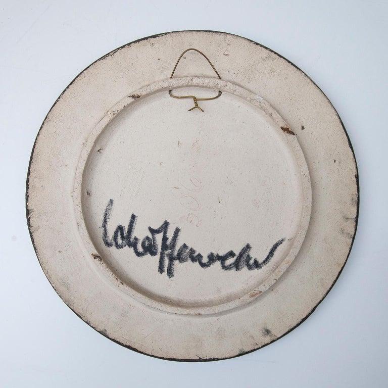 Helmut Schäffenacker Unique Face Stoneware Plate, 1960s In Good Condition For Sale In Munich, DE