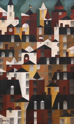Dächer und Türmer (Roofs and Towers) - German Expressionism, Cityscape, Rhythm