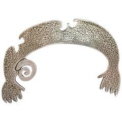 Helping Hands, Naja, Melanie Yazzie design, silver, Navajo, pendant contemporary
