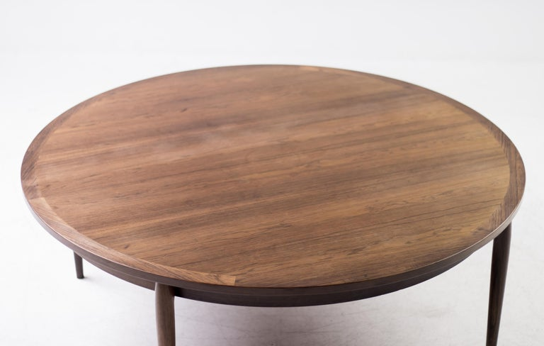 Heltborg Møbler for Domus Danica Rosewood Coffee Table For Sale 2