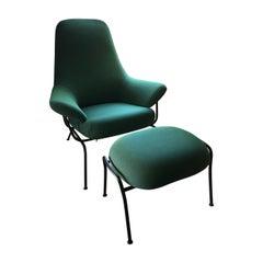 Hem Peacock Hai Chair with Ottoman, Designer Luca Nichetto