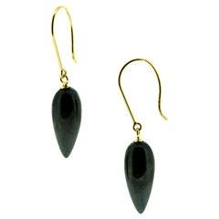 Hematite Gold Earrings