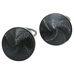 Hematite White Gold Cufflinks by Wagner Preziosen