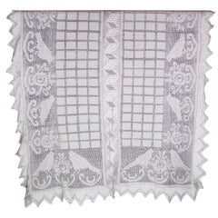 Hemstiched Transylvanian Tablecloth from the 1920s