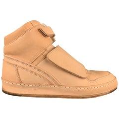 HENDER SCHEME MIP-06 Size 10.5 Natural Vachetta Leather High Top Sneakers