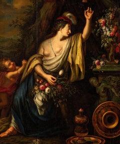 Flora, Paint Oil canvas, Art Baroque 17th Century, Flamish Dutch Old Master
