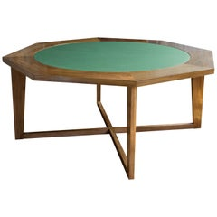 Hendricks Poker / Dining Table in Stained Mahogany with Revolving Inner Round