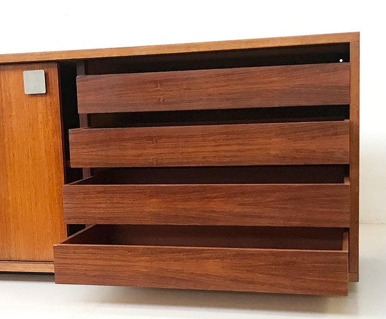 Mid-Century Modern Hendrickx Long Wall-Hanging Sideboard, 1970s For Sale