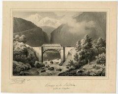 Torrent de la Saltine, route du Simplon.