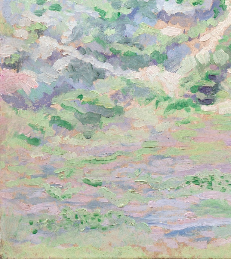 'Coastal Dunes, Cream and Lilac', Early Dutch Post-Impressionist oil Landscape For Sale 2