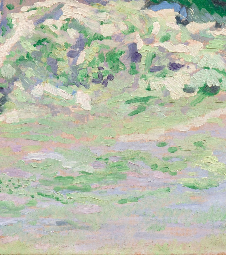 'Coastal Dunes, Cream and Lilac', Early Dutch Post-Impressionist oil Landscape For Sale 3