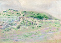 'Coastal Dunes, Cream and Lilac', Early Dutch Post-Impressionist oil Landscape