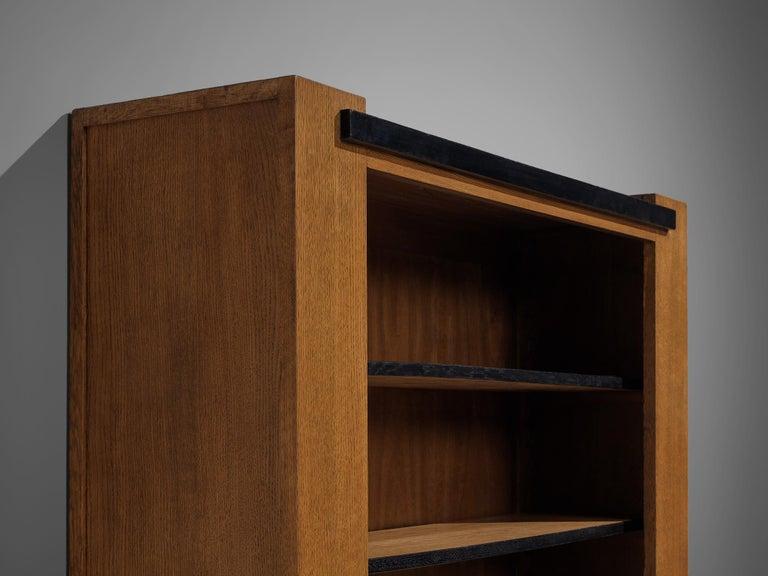 Dutch Hendrik Wouda for Pander Art Deco Bookshelf in Oak For Sale